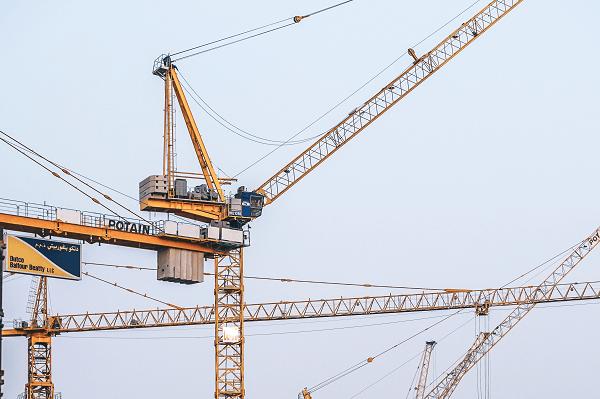 crane on construction site | Truck & Trailer