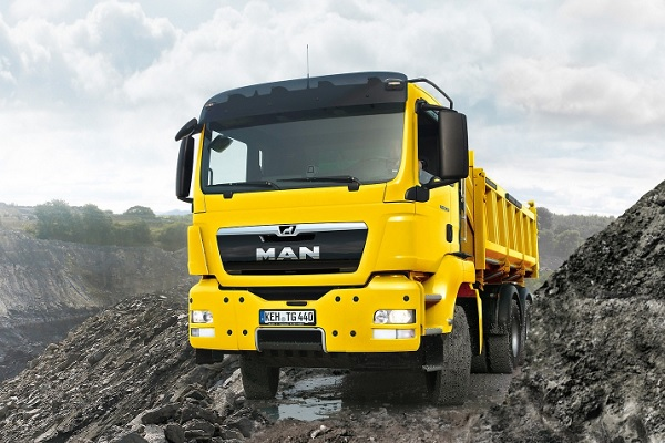 Yellow Man TGS ww truck
