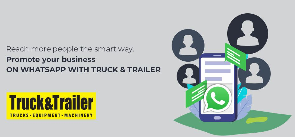 Promote Your Business On WhatsApp With Truck & Trailer